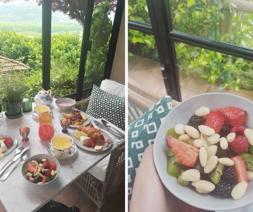 Romantic getaway, breakfast at Villa la Madonna in Piedmont, italy.