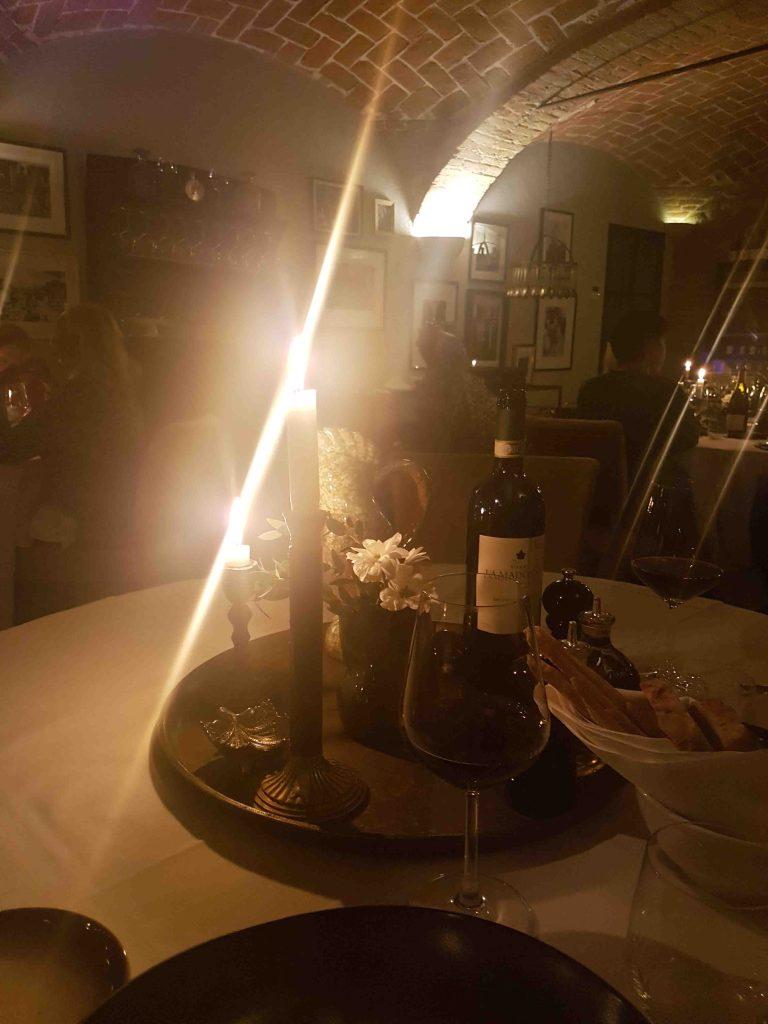Italian romantic getaway in the piedmont at Villa la Madonna. A romantic dinner