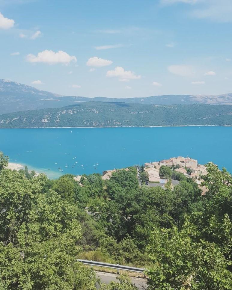 Sainte croix lake in provence (lavender field)